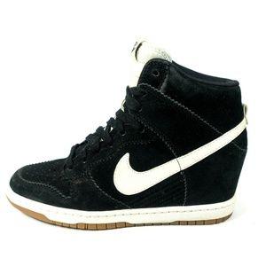 Nike Dunk Sky Hi Black Suede Wedge Sneakers